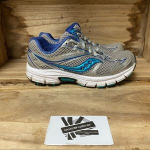 Saucony cohesion grey blue running sneakers shoes